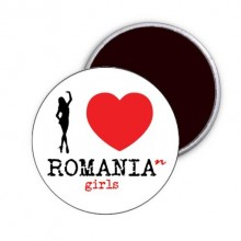 "Magnet ""I Love Romanian Girls"""