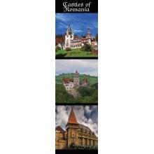 Semn de carte Castele din Romania (Castelul Peles, Castelul Bran, Castelul Huniazilor)