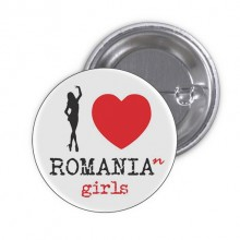 "Insigna ""Love Romanian Girls"""